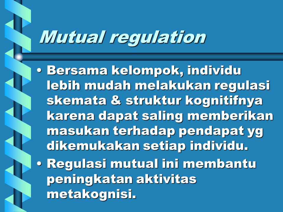 Mutual regulation
