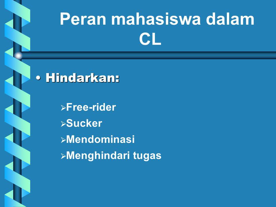Peran mahasiswa dalam CL