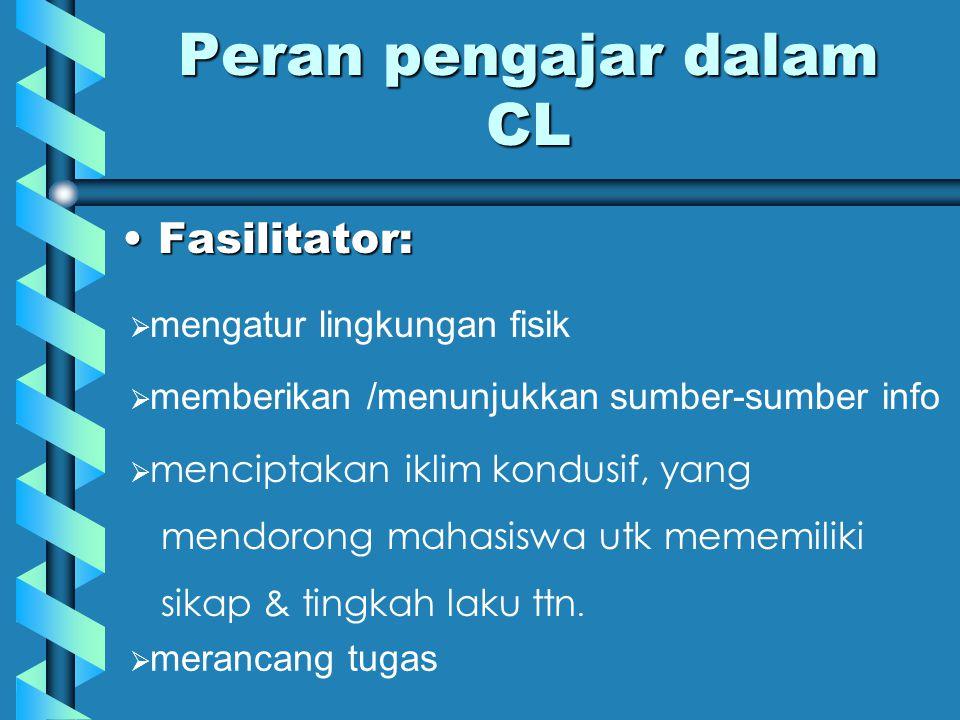 Peran pengajar dalam CL