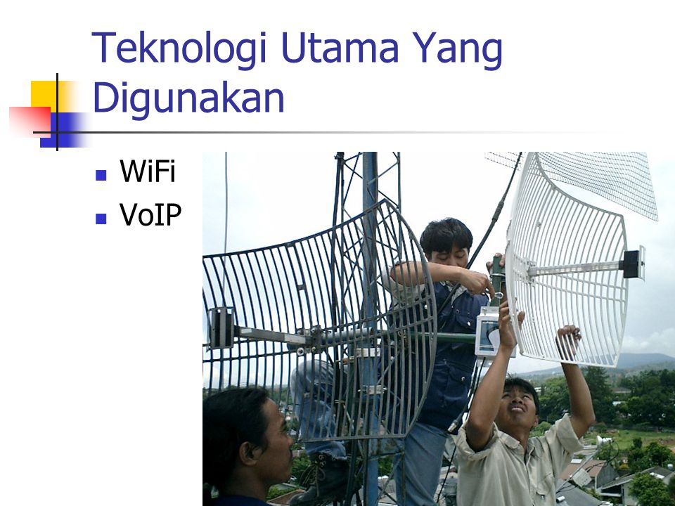 Teknologi Utama Yang Digunakan