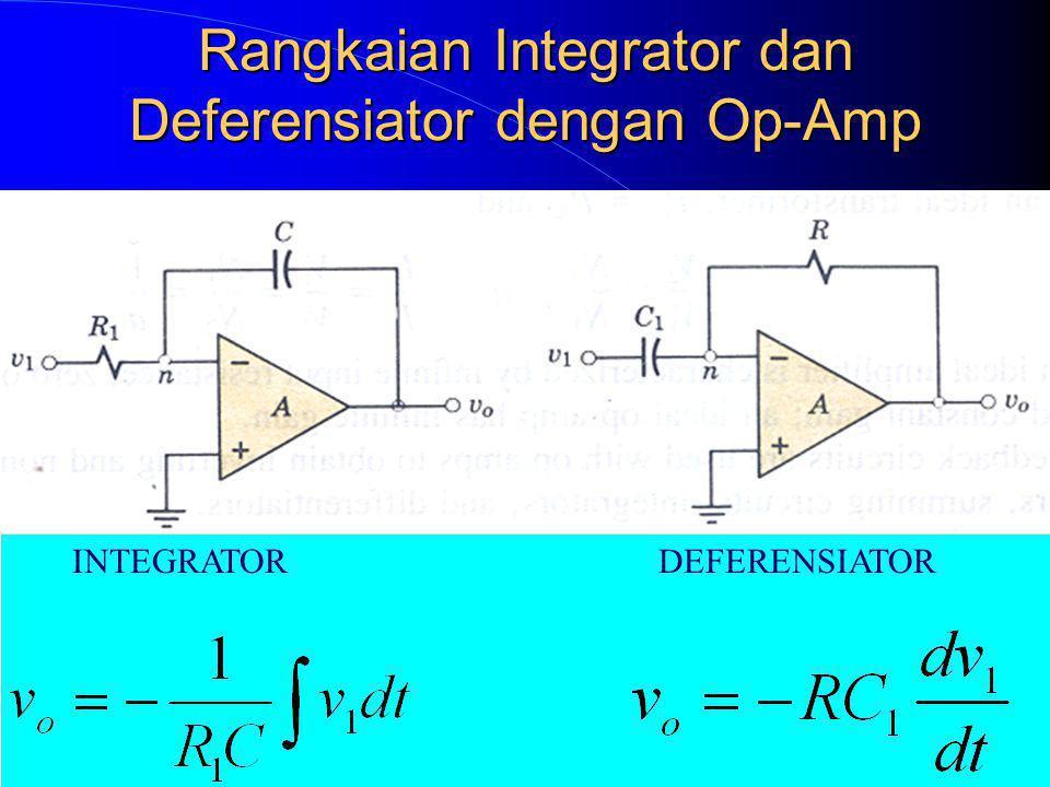 Rangkaian Integrator dan Deferensiator dengan Op-Amp