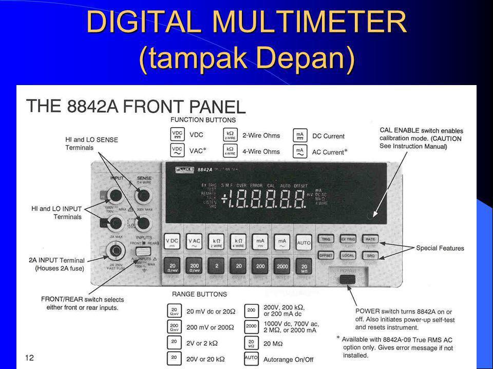 DIGITAL MULTIMETER (tampak Depan)