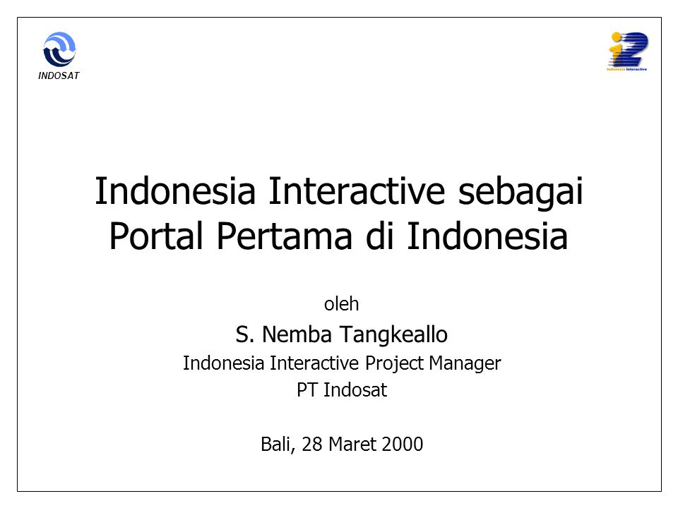 Indonesia Interactive sebagai Portal Pertama di Indonesia