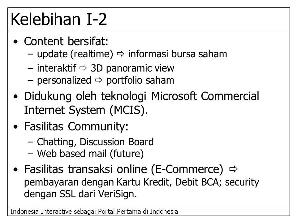 Kelebihan I-2 Content bersifat: