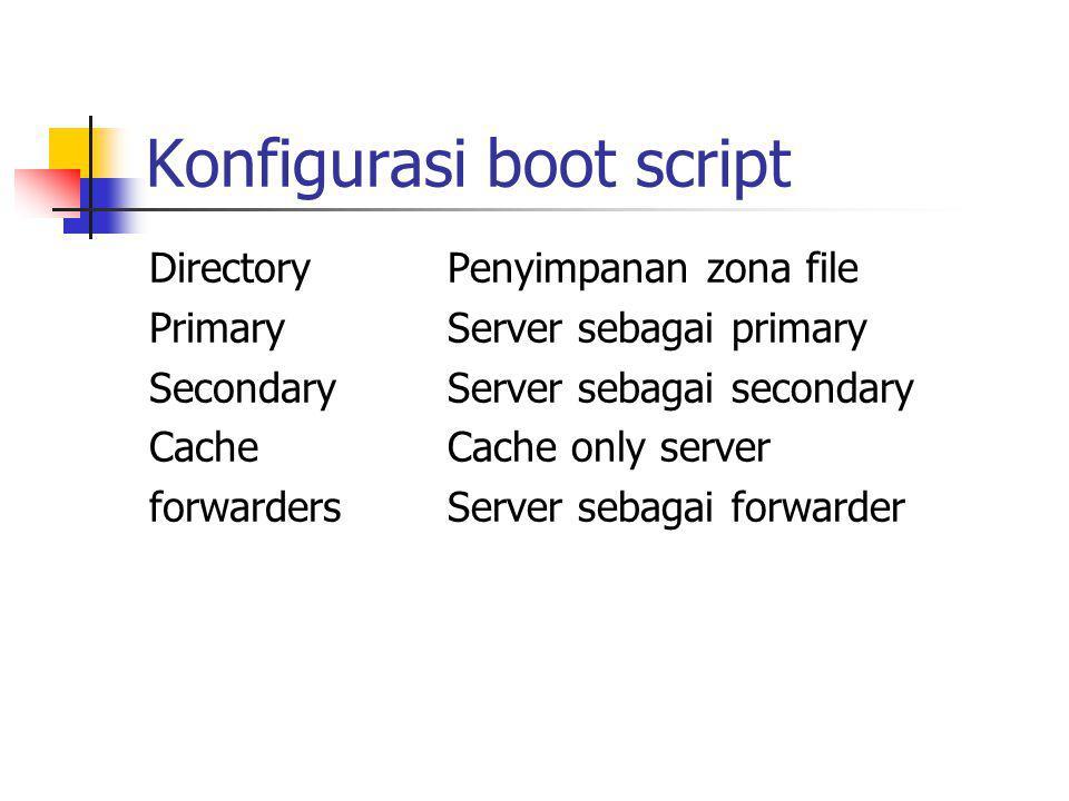 Konfigurasi boot script