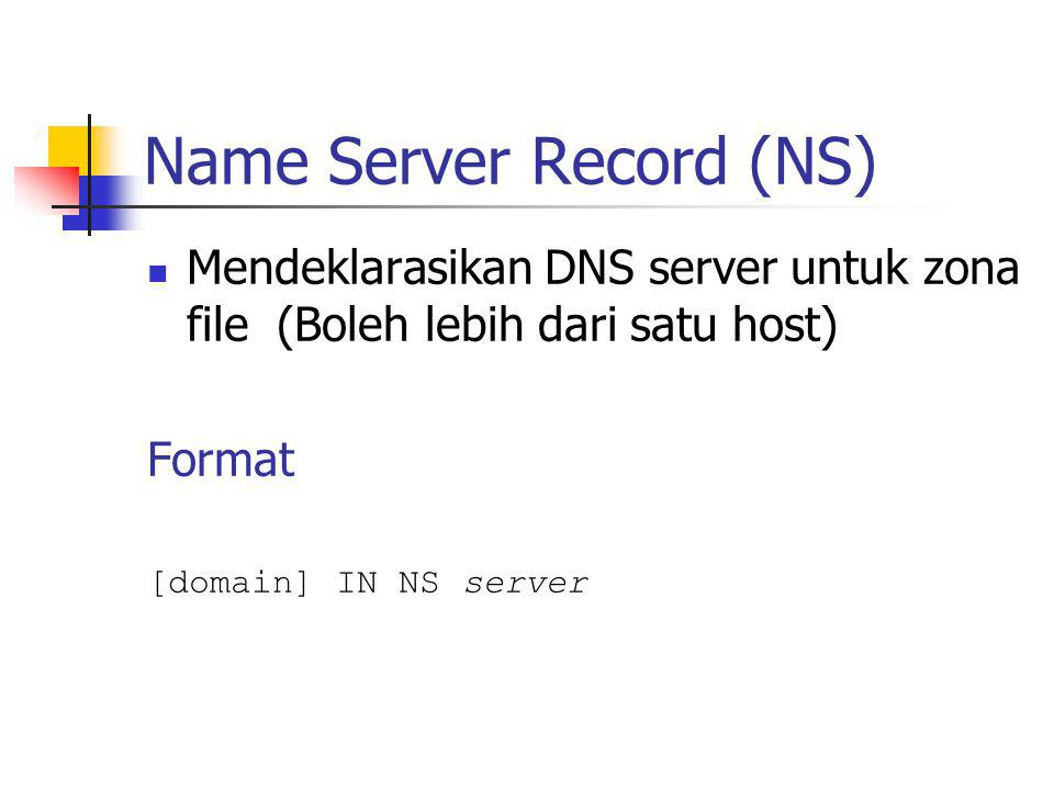 Name Server Record (NS)