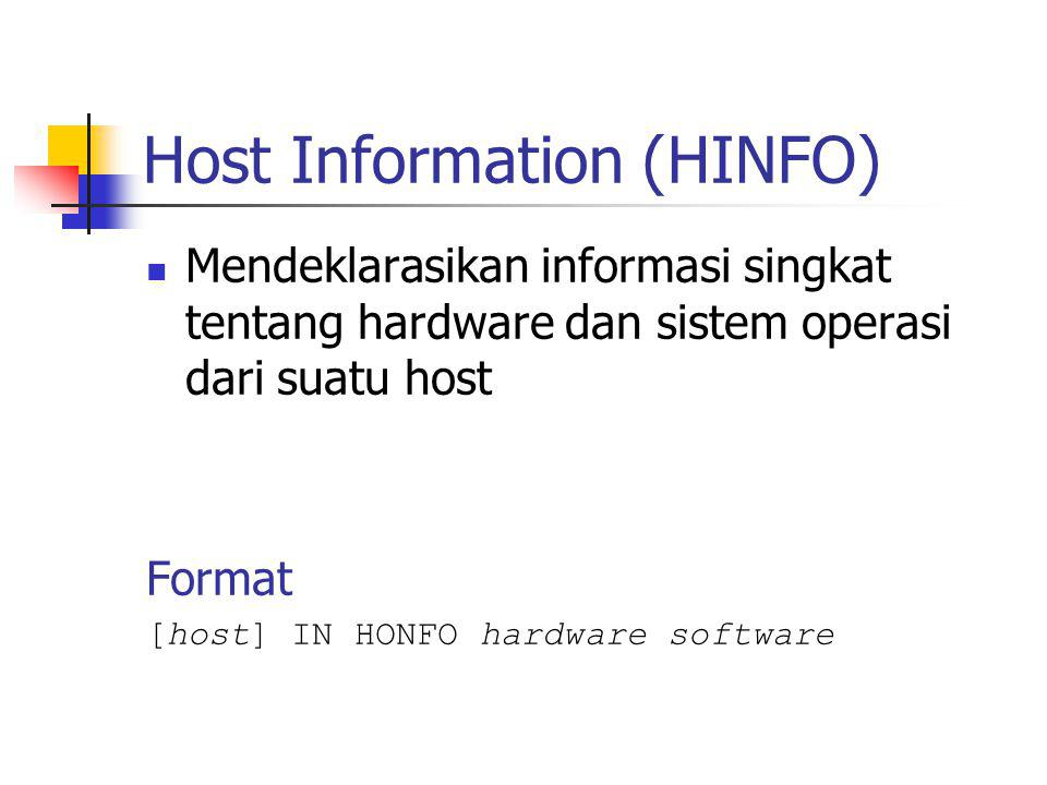 Host Information (HINFO)