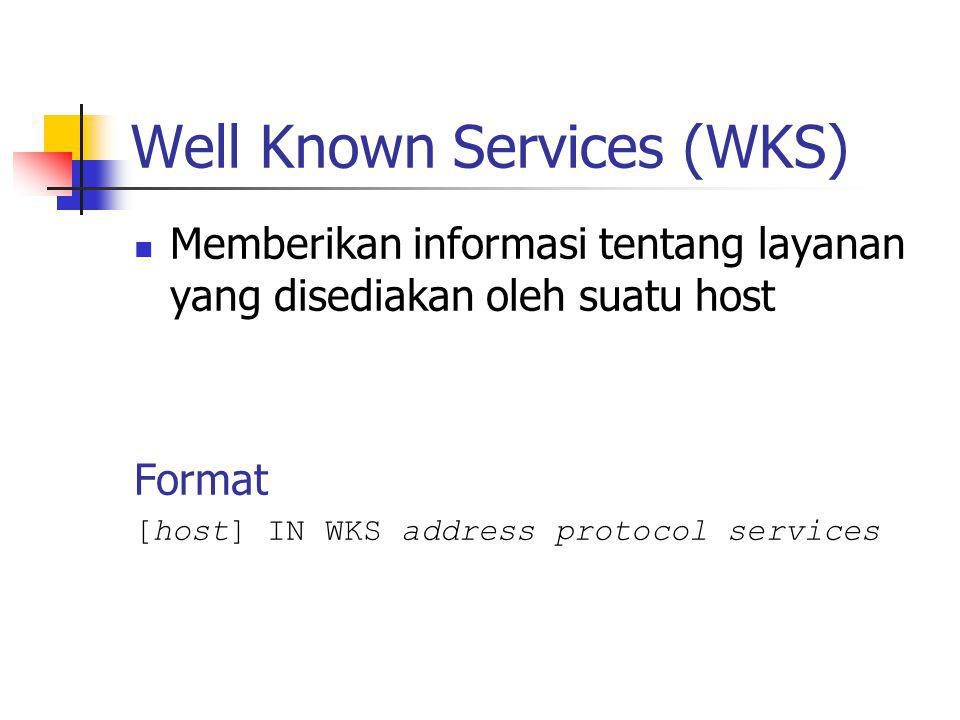 Well Known Services (WKS)
