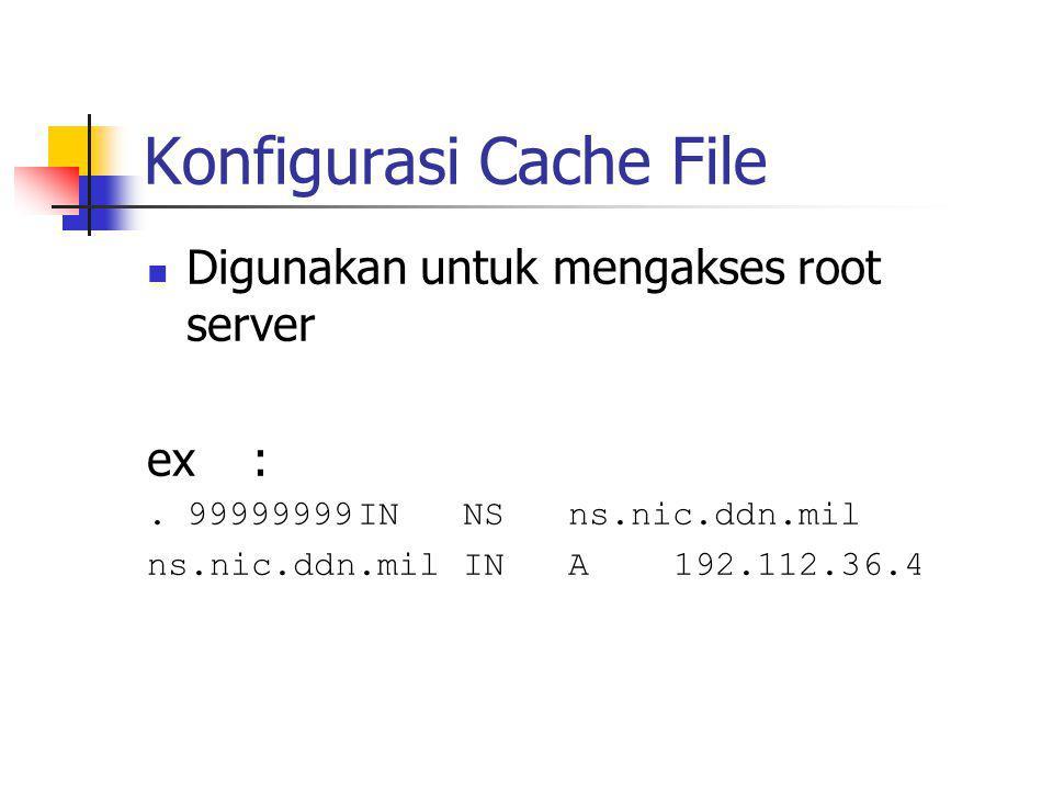 Konfigurasi Cache File