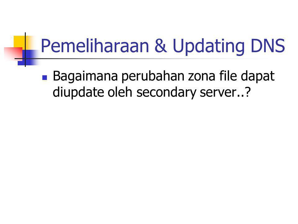 Pemeliharaan & Updating DNS