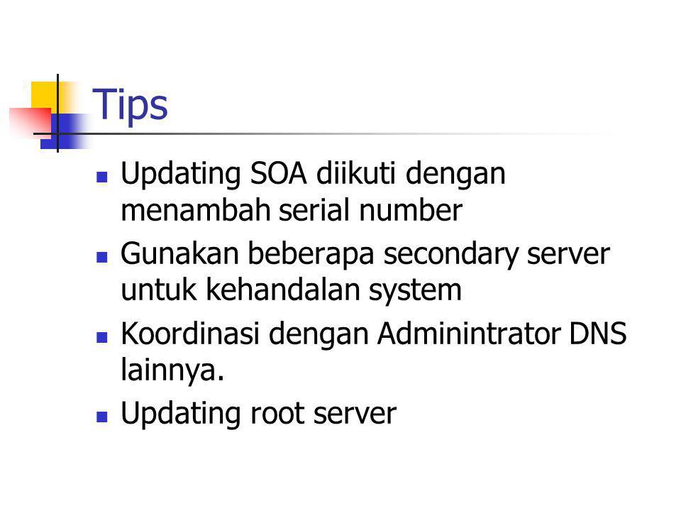 Tips Updating SOA diikuti dengan menambah serial number