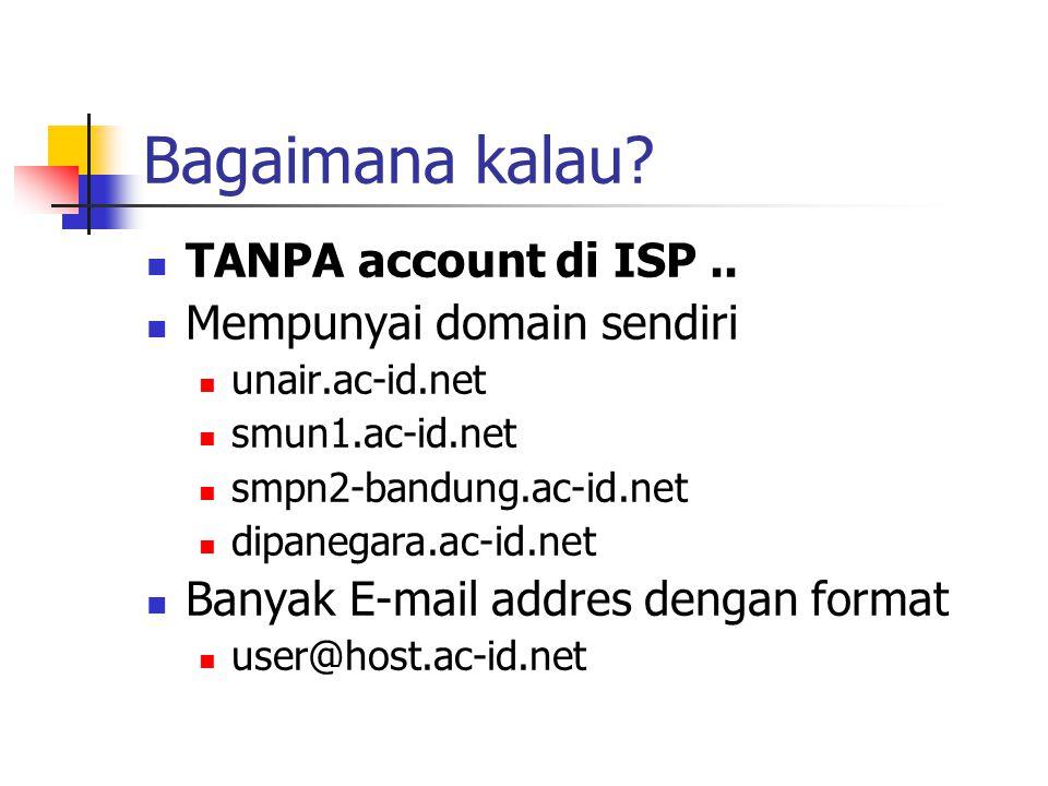 Bagaimana kalau TANPA account di ISP .. Mempunyai domain sendiri