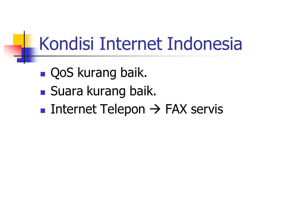 Kondisi Internet Indonesia