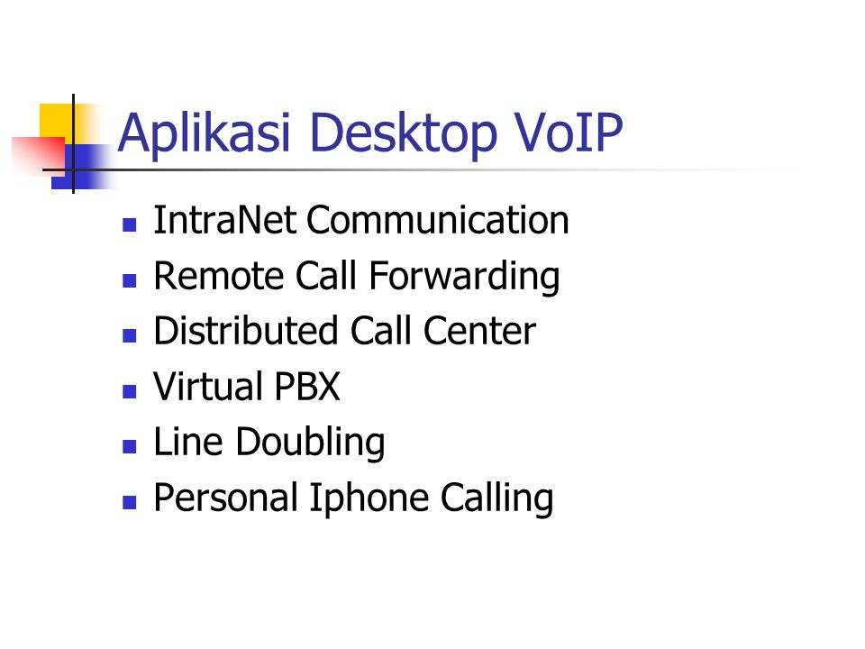 Aplikasi Desktop VoIP IntraNet Communication Remote Call Forwarding