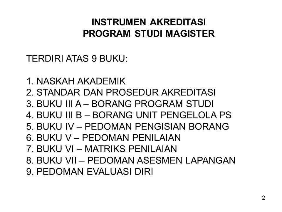 PROGRAM STUDI MAGISTER