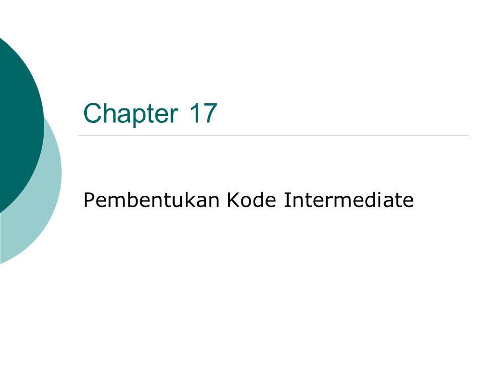Pembentukan Kode Intermediate