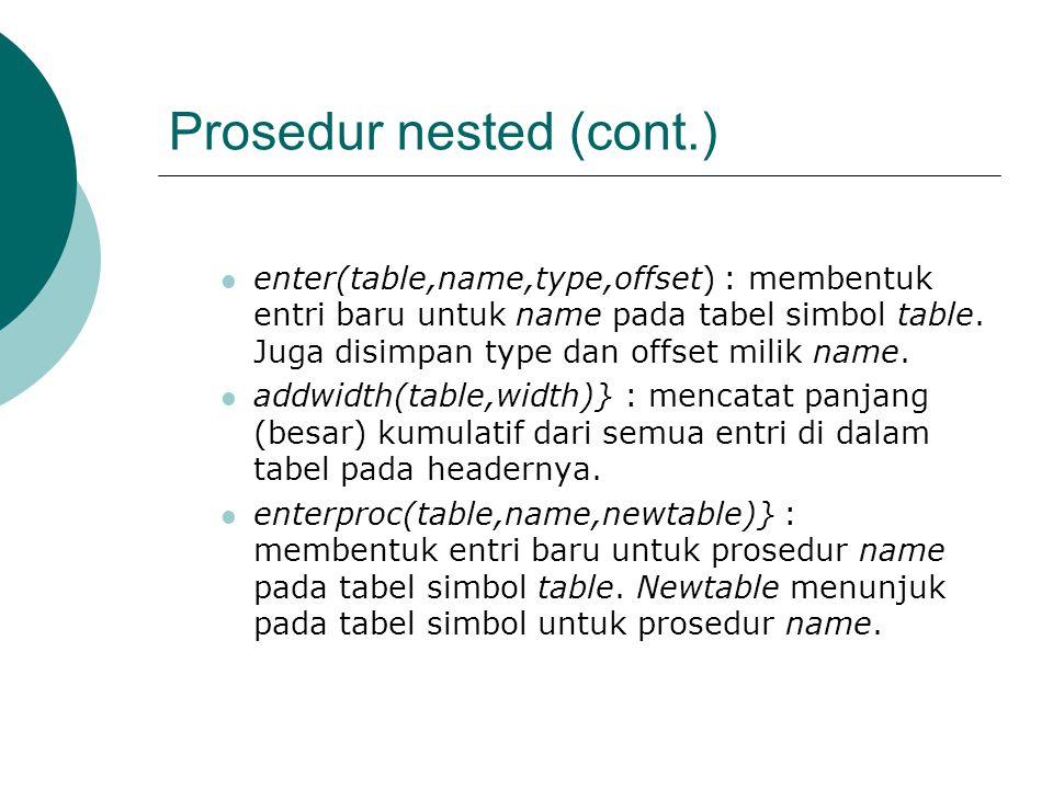 Prosedur nested (cont.)