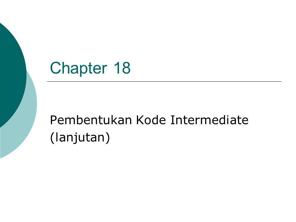 Pembentukan Kode Intermediate (lanjutan)