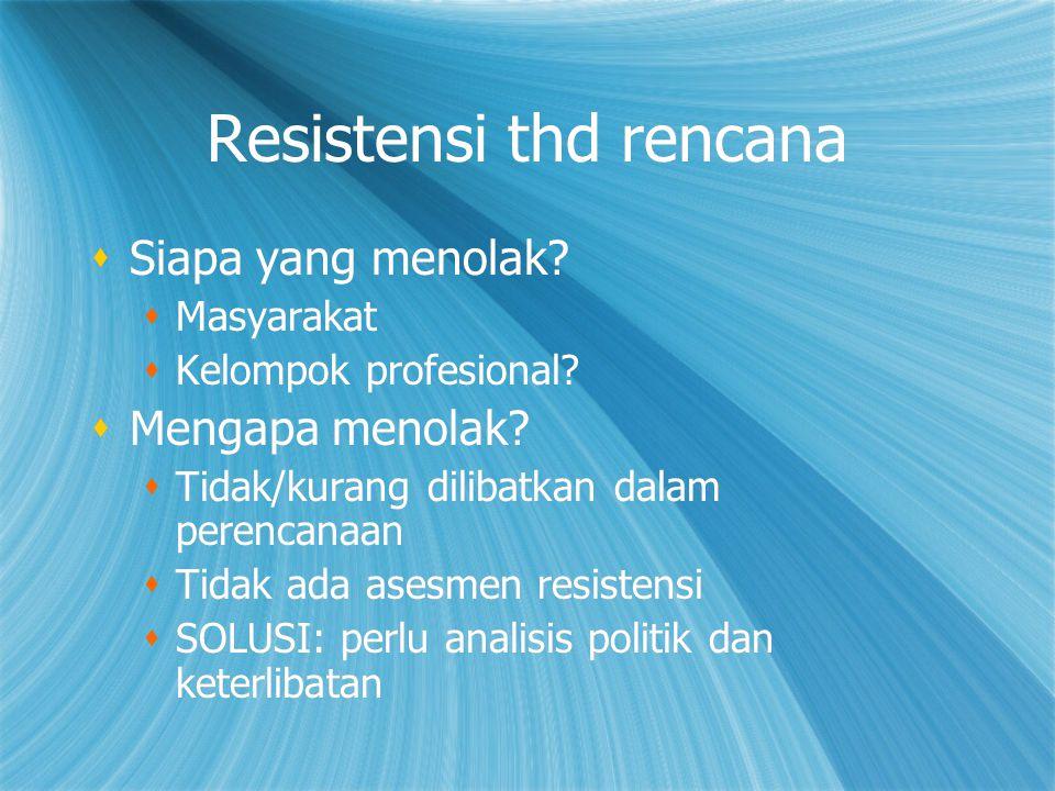 Resistensi thd rencana