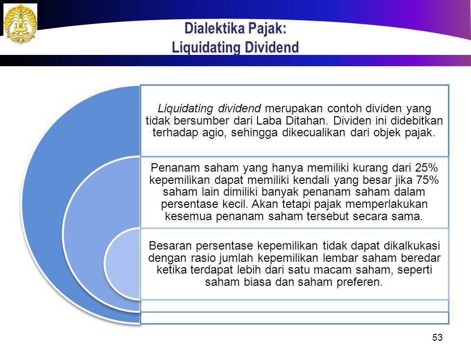 Dialektika Pajak: Liquidating Dividend
