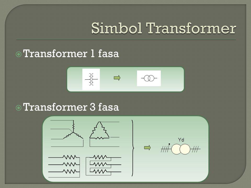 Simbol Transformer Transformer 1 fasa Transformer 3 fasa