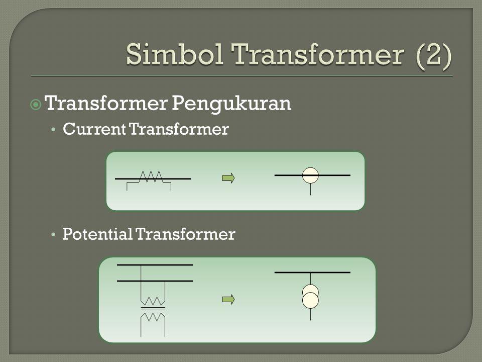 Simbol Transformer (2) Transformer Pengukuran Current Transformer