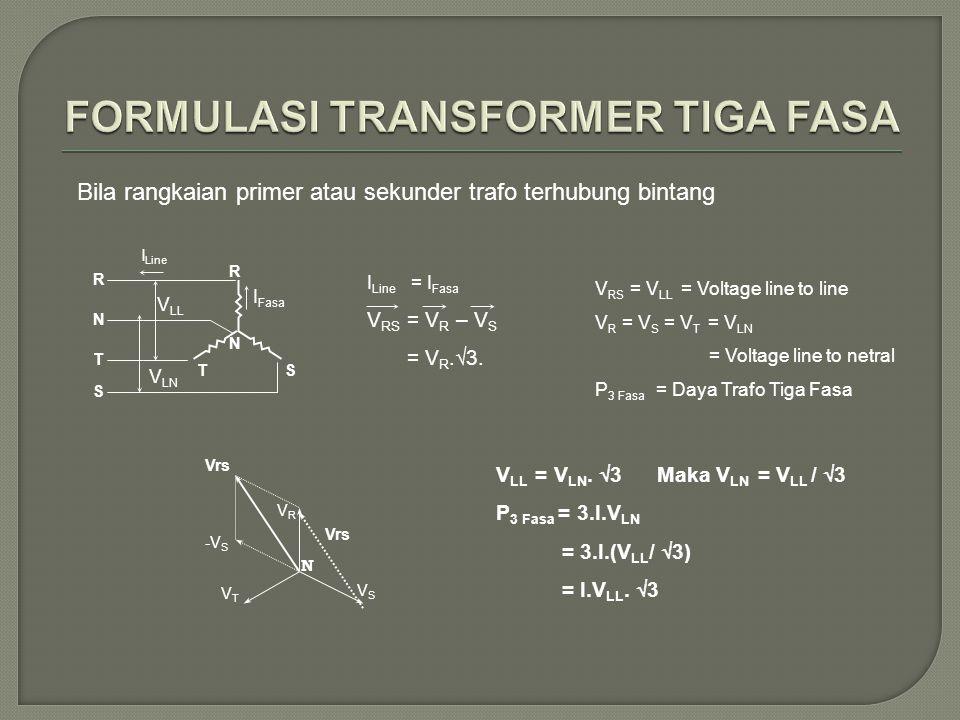 FORMULASI TRANSFORMER TIGA FASA