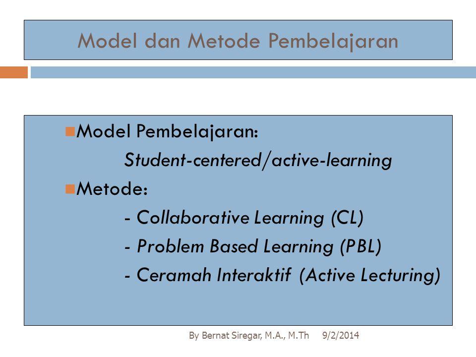 Model dan Metode Pembelajaran