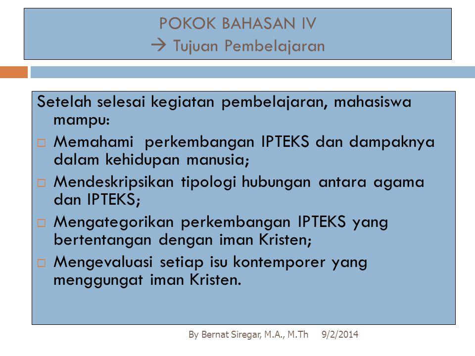 POKOK BAHASAN IV  Tujuan Pembelajaran