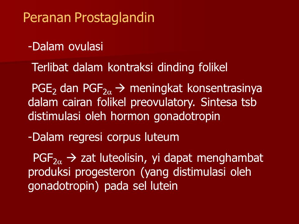 Peranan Prostaglandin