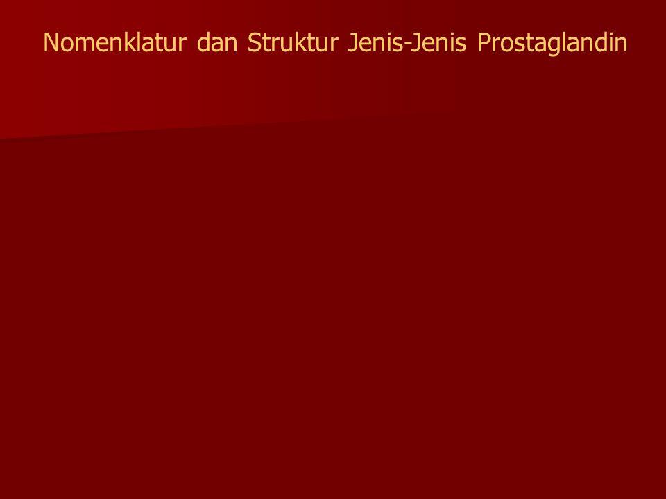 Nomenklatur dan Struktur Jenis-Jenis Prostaglandin