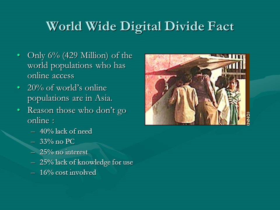 World Wide Digital Divide Fact