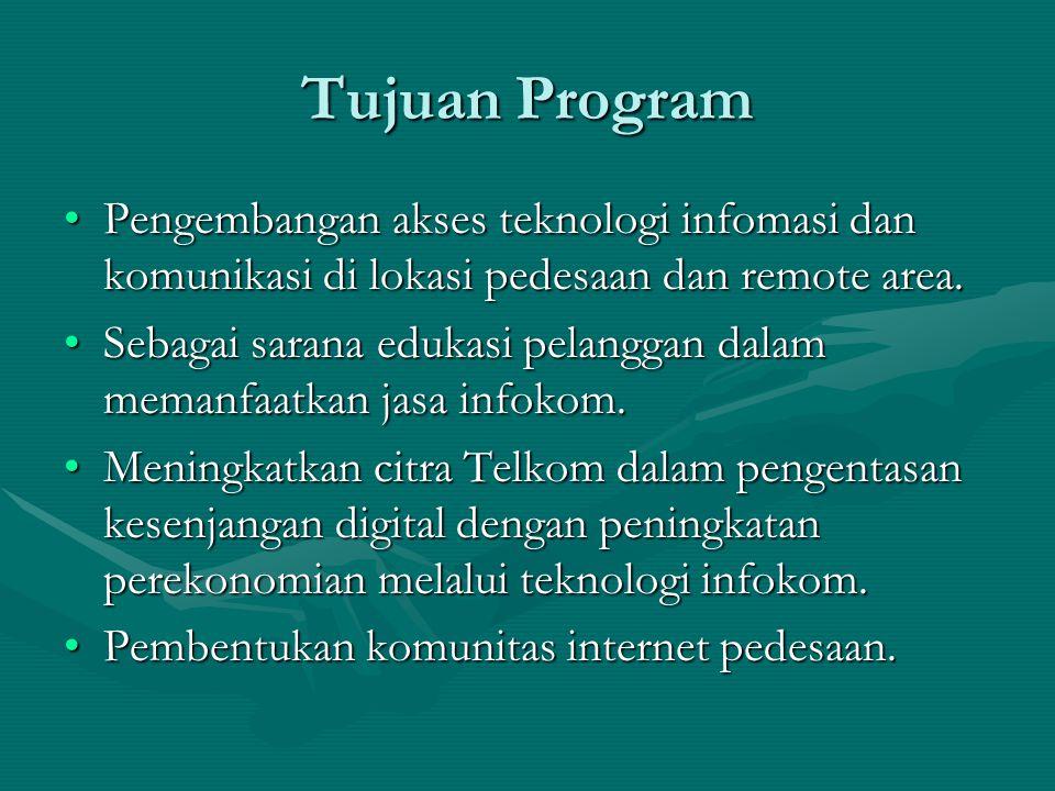 Tujuan Program Pengembangan akses teknologi infomasi dan komunikasi di lokasi pedesaan dan remote area.