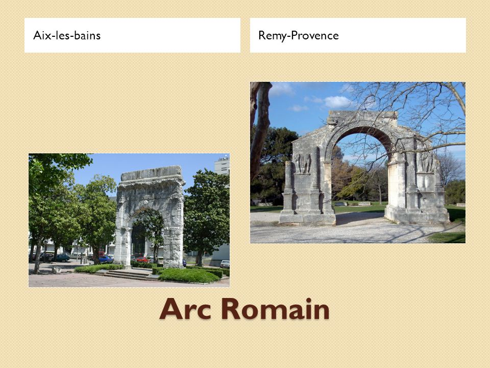Aix-les-bains Remy-Provence Arc Romain