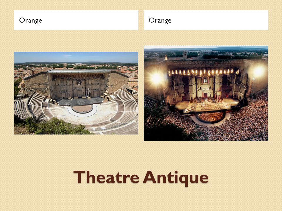 Orange Orange Theatre Antique