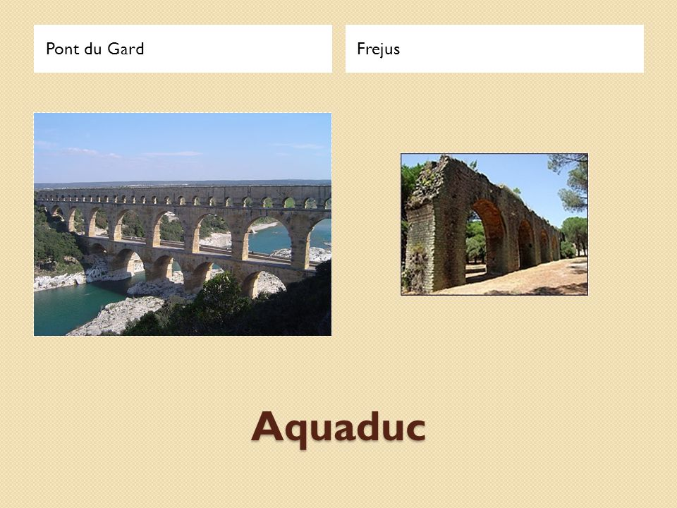 Pont du Gard Frejus Aquaduc
