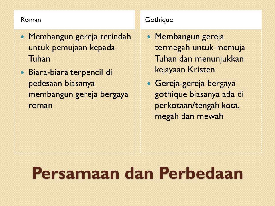 Persamaan dan Perbedaan