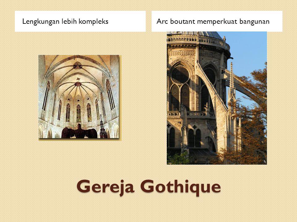 Gereja Gothique Lengkungan lebih kompleks