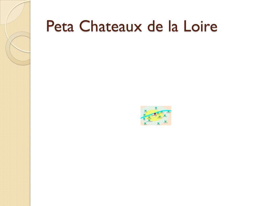 Peta Chateaux de la Loire