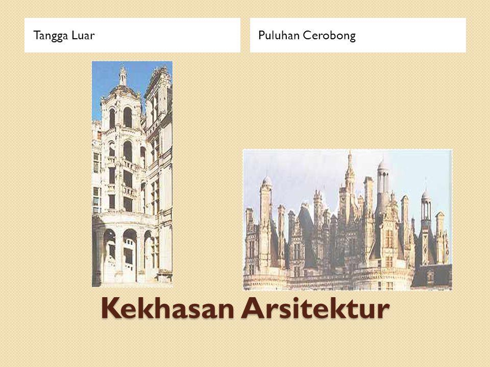 Tangga Luar Puluhan Cerobong Kekhasan Arsitektur