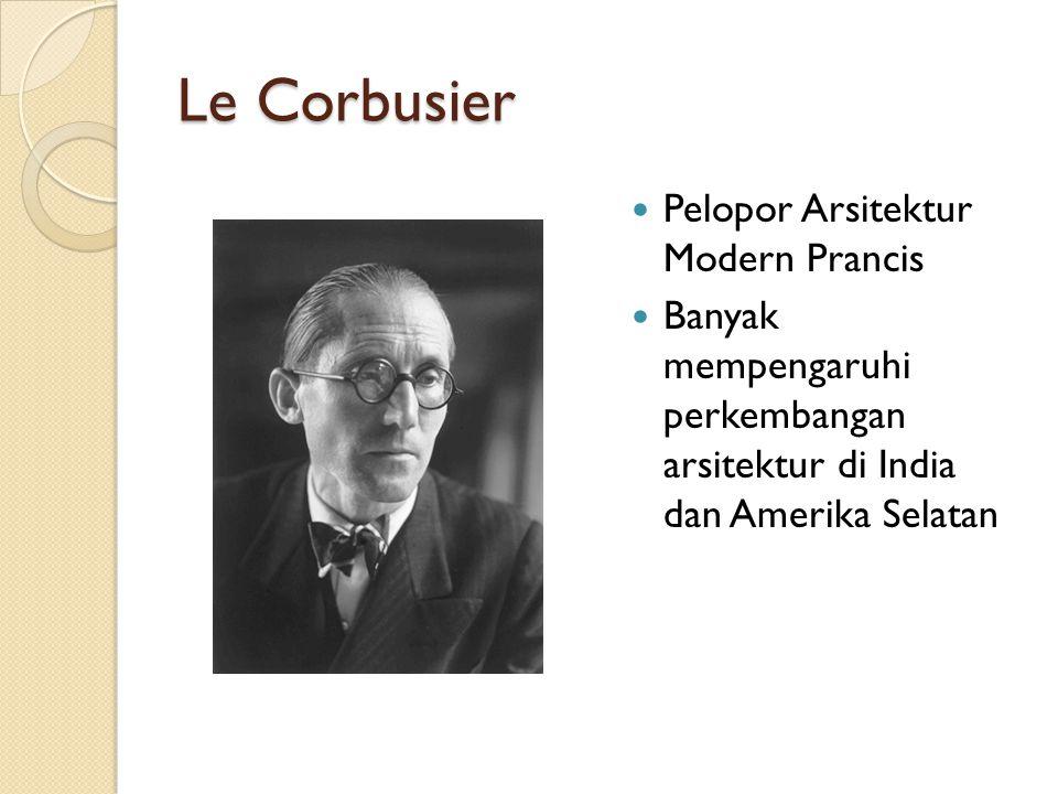 Le Corbusier Pelopor Arsitektur Modern Prancis