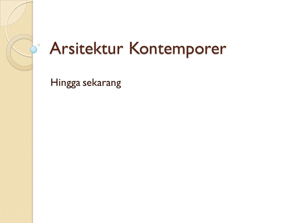Arsitektur Kontemporer