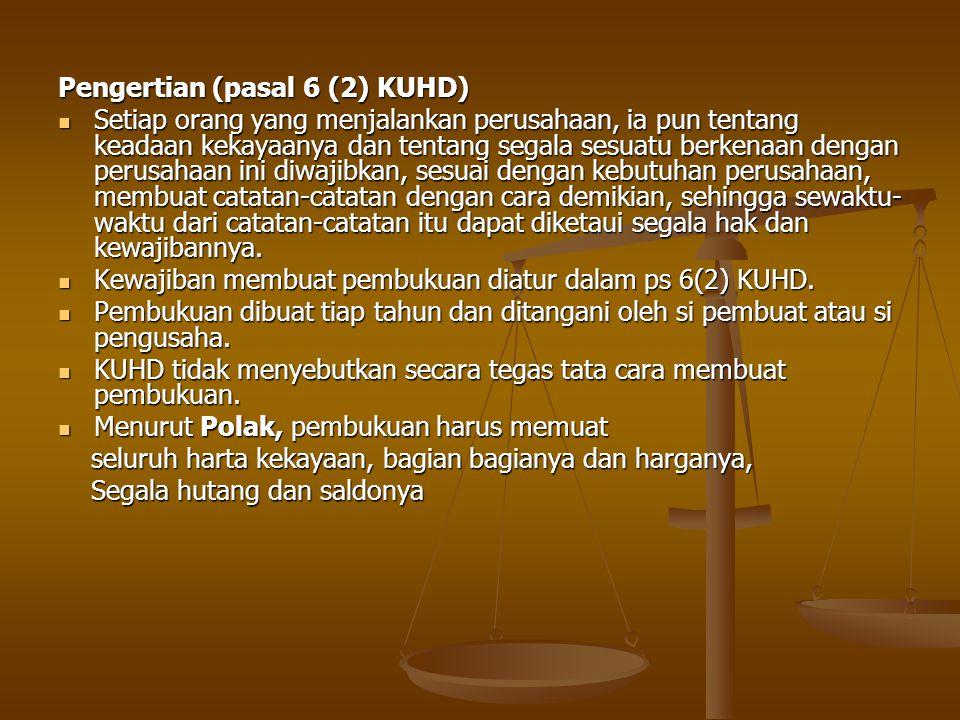 Pengertian (pasal 6 (2) KUHD)