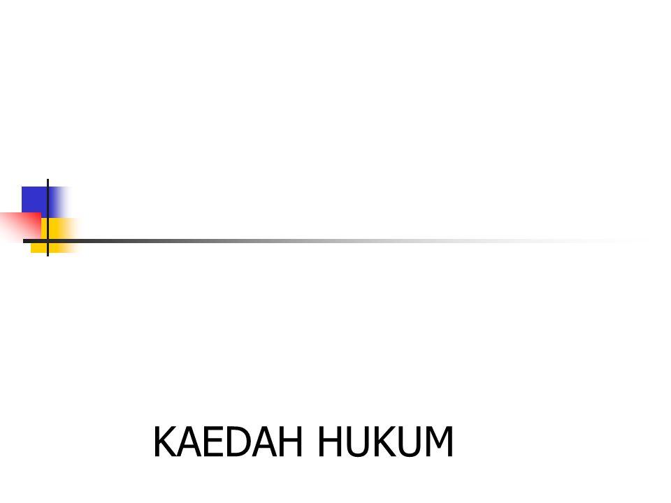 KAEDAH HUKUM