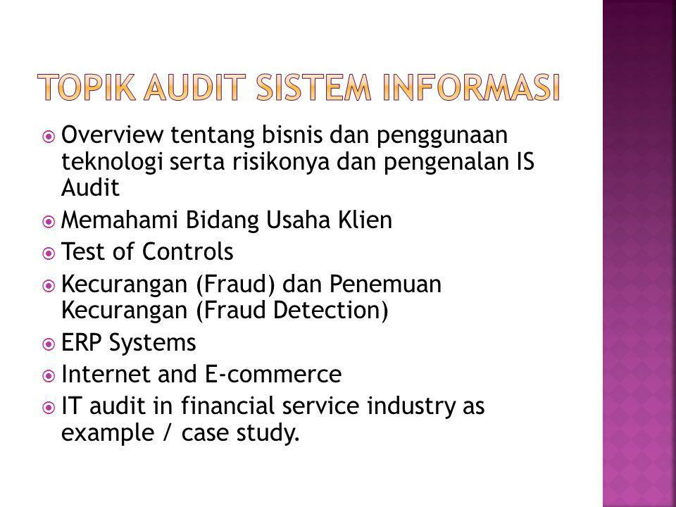 Topik Audit Sistem Informasi