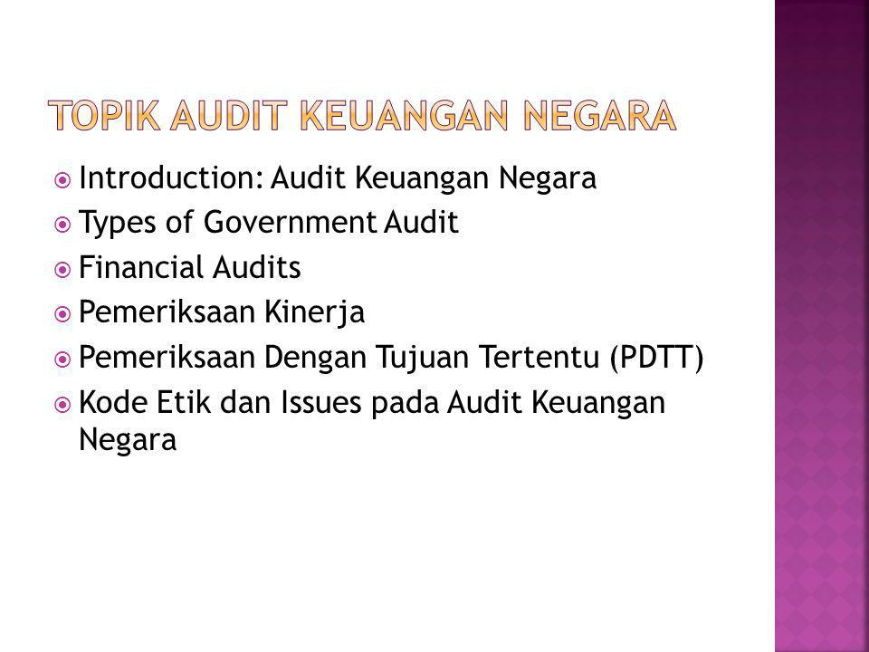 Topik Audit Keuangan Negara