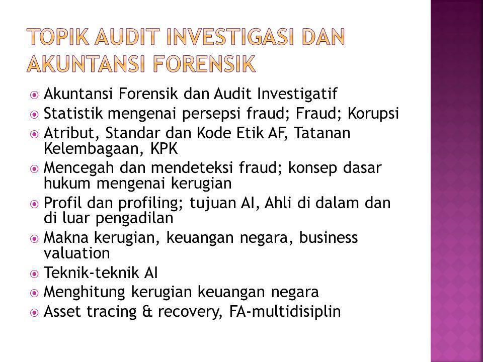 TOPIK Audit investigasi dan akuntansi forensik
