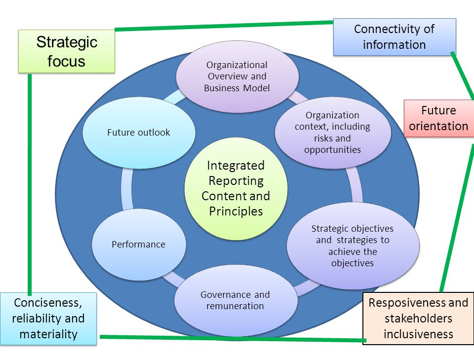 Strategic focus Connectivity of information Future orientation