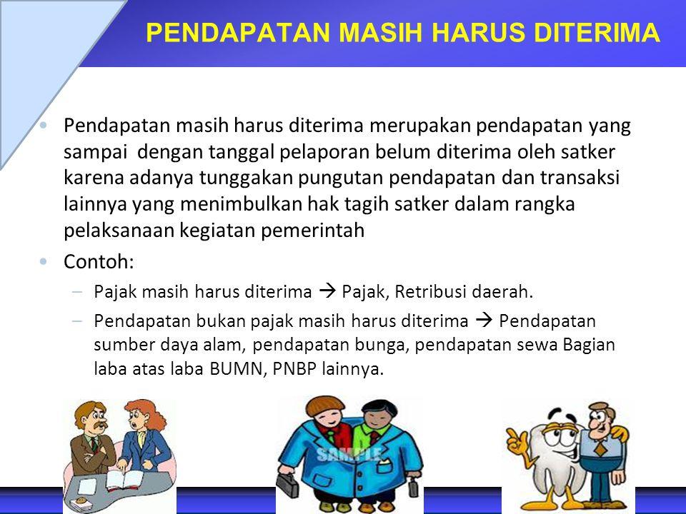 PENDAPATAN MASIH HARUS DITERIMA