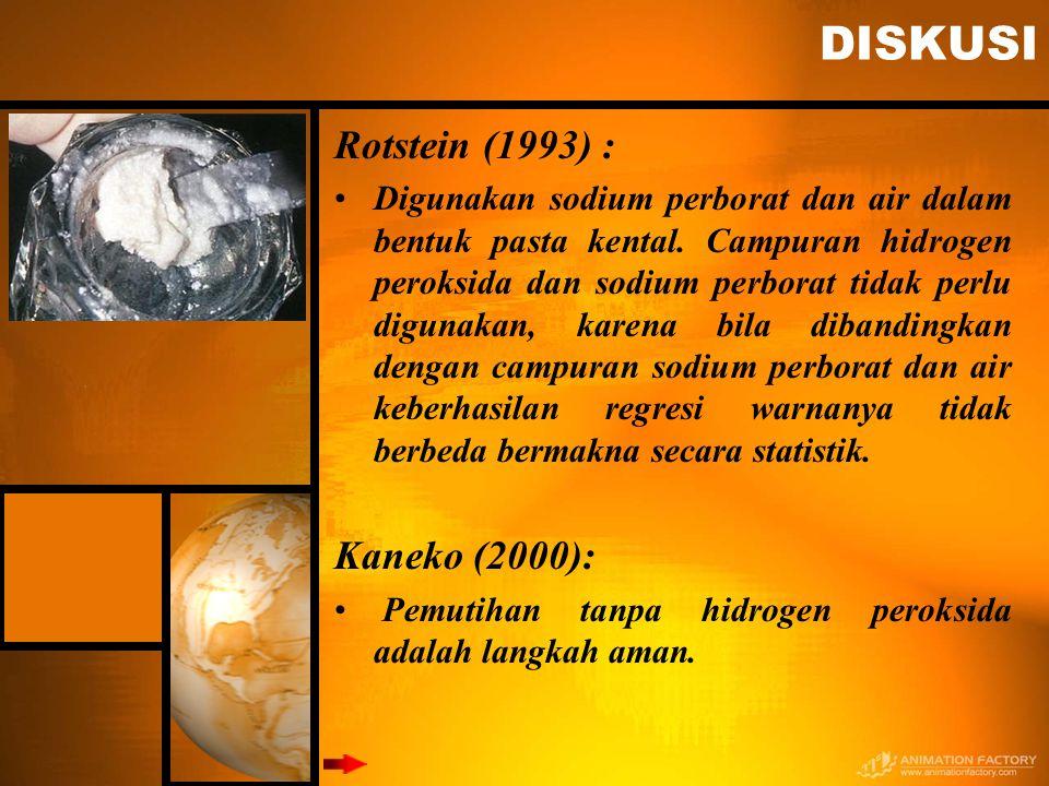 DISKUSI Rotstein (1993) : Kaneko (2000):